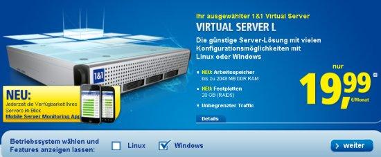 Post image of 1und1 Windows vServer L